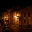 Street scene in Arles at night, southern France — Stock Photo