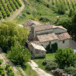 Aerial view of rural house in France — Stock Photo