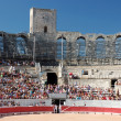 Bullfight in the Roman Arena of Arles, France — Stock Photo