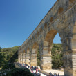 Roman aqueduct Pont du Gard in France — Stock Photo