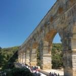 Roman aqueduct Pont du Gard in France — Stock Photo #9454863
