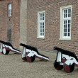 Stock Photo: Old cannons at castle in Germany
