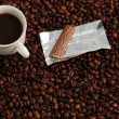Cop of Coffe with Praline — Stock Photo #9455319