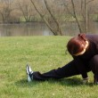 Stock Photo: Teenage Girl Stretching