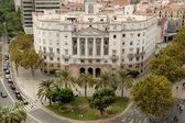 Historical Navy Sector Building at the begining of La Rambla, Barcelona — Stock Photo