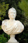 Bust statue at Palau Reial de Pedralbes in Barcelona, Spain — Stock Photo