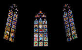 Windows in Pedralbes Gothic Monastery in Barcelona, Spain — Stock Photo