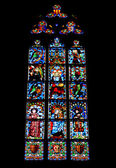 Window in Pedralbes Gothic Monastery in Barcelona, Spain — Stock Photo
