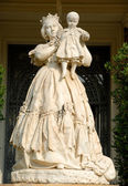 Statue at Palau Reial de Pedralbes in Barcelona, Spain — Stock Photo