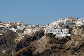 Town Thira in Santorini, Greece — Stock Photo