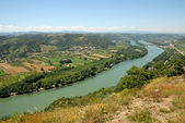 Landscape with Rhone river in the Provence, France — Stock Photo