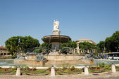 Fountain (La Rotonde) in Aix-en-Provence, southern France — Stock Photo
