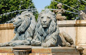 Lion statues in Aix-en-Provence, southern France — Stock Photo