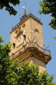Clock tower of the Hotel de Ville in Aix-en-Provence, France — Stock Photo