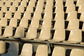 Rows of seats in an open air cinema — Stock Photo