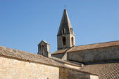 Roof of the medieval cloister in southern France — Stock Photo