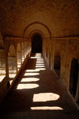 Medieval Cistercian cloister in southren France — Stock Photo