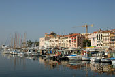 Marina in Cannes, southern France — Stock Photo