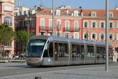 Tramway in the city of Nice, France — Stock Photo
