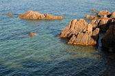 Cliffs at the French Riviera, Coat d'Azur, southern France — Stock Photo