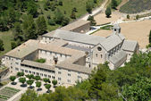 Aerial view of Seanque Abbey, southern France — Stock Photo