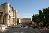 Square below the Palace of the Popes, Avignon France — Stock Photo
