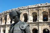 Amphithéâtre romain, nimes, france — Photo
