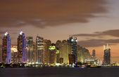 Dubai Marina skyline at night, Dubai — Stock Photo