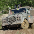 Stock Photo: Land Rover at offroad rally competition