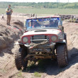 Jeep Wrangler at offroad rally competition — Stock Photo #9590780