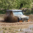 Mercedes Benz G Model at offroad rally competition — Stock Photo #9590807