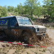 Mercedes Benz G Model at offroad rally competition — Stock Photo