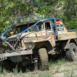 Ural rally truck at offroad competition — Stock Photo #9590941