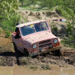 UAS jeep at offroad rally competition — Stock Photo