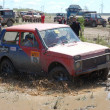 Lada Niva at offroad rally competition — Stock Photo
