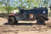 Hummer H1 at offroad rally competition — Stock Photo