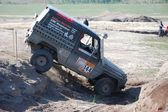Mercedes Benz 300 GD at offroad rally competition — Stock Photo