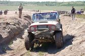 Jeep Wrangler at offroad rally competition — Stock Photo