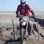 Enduro motocross competition — Stock Photo