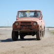 Russian UAS jeep at offroad rally competition — Stock Photo
