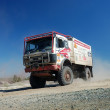 Mercedes Benz rally truck at offroad competition - Stock Photo