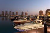 Marina in Porto Arabia, Doha Qatar — Stock Photo
