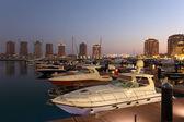 Marina in Porto Arabia, Doha Qatar — Stock Photo