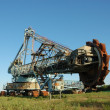 Stock Photo: Abandoned daylight mine excavator for brown coal