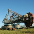 Photo: Abandoned daylight mine excavator for brown coal