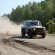 Mercedes Benz G Class SUV at offroad rally competition — Stock Photo #9733374