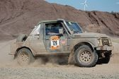 Suzuki SJ jeep at offroad rally competition — Stock Photo
