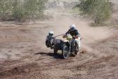 Raduno di moto con sidecar al concorso offroad — Foto Stock
