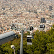 Stock Photo: Town Panoram& Teleferic De Montjuic Seen From Montjuic Castle, Barcelona.