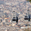 Stock Photo: Teleferic De Montjuic Seen From Montjuic Castle, Barcelona